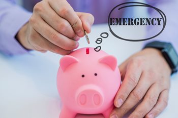 Emergency Savings Piggy Bank