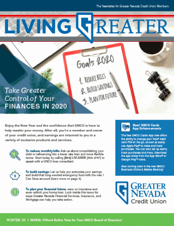 January 2020 Living Greater Newsletter