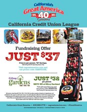 Credit Union Discounted Tickets to California's Great America