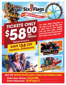 Six Flags CU Discount