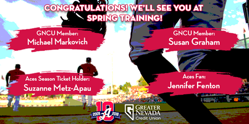 Congrats to our 2018 Spring Training Trip Winners