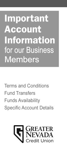 Cover page GNCU Business Account Ts and Cs