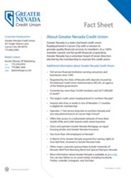 Greater Nevada Credit Union Fact Sheet
