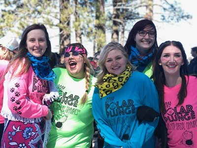 GNCU employees at the 2019 SO polar plunge