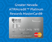 Nevada Platinum Credit Card with Rewards and Chip Technology